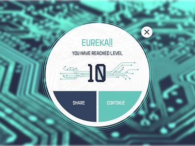 Pop-Up / Overlay user interface digital circuit overlay pop up game uidesign ui dailyui 016 dailyui