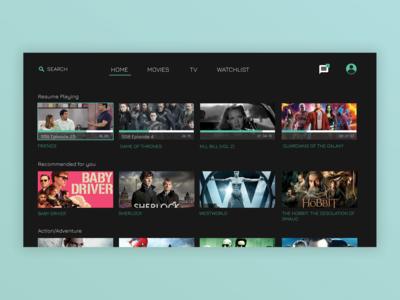 Smart TV App (Home Screen)