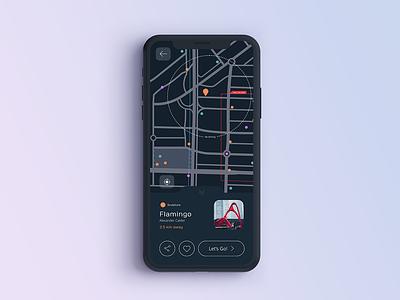 Map map interface dailyui 029 app design interface design design app user interface uidesign ui dailyui