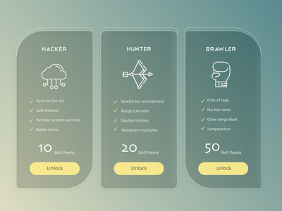 Pricing skills game ui pricing table pricing dailyui 030 daily ui interface design user interface uidesign ui dailyui