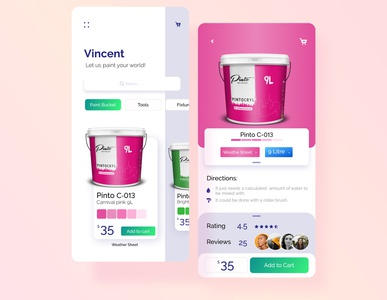 Paint Bucket App UI