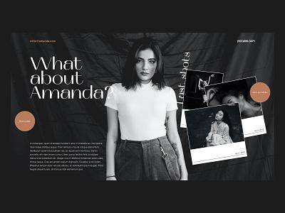 Website Concept - Amanda Photographer Portfolio adobexd website uidesign uidaily concept design web ux ui