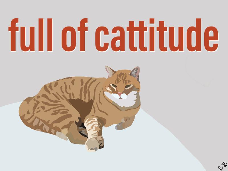 Cattitude T-shirt Design
