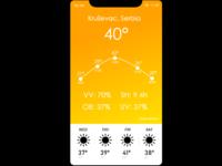 UI Challenge 037 - Weather