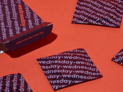 Wednesday Co humpday diversity condom packagedesign design illustration branding