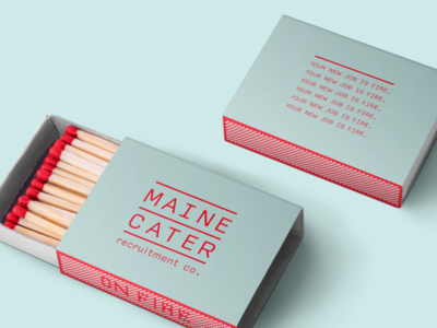 Maine Cater Recruitment package design vector packagedesign logo hand drawn design illustration branding