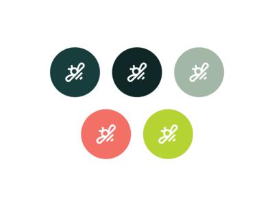 Gardenstead garden colour palette illustrator brandmark