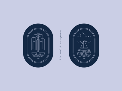 Willows and Waves kin family tree illustration crest sailboat tree willow