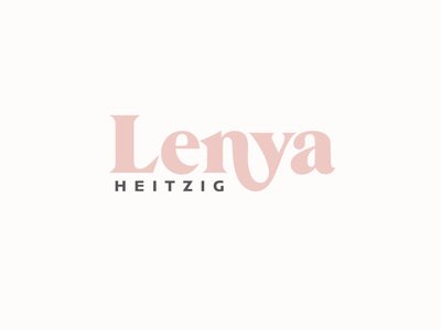 Lenya Logo illustrator flat minimal typography design vector branding logo