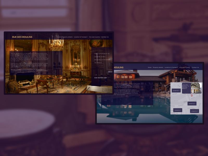 Property Details website design adobexd ui designer ui design ux ui minimal luxury interface interaction clean ui clean landing page