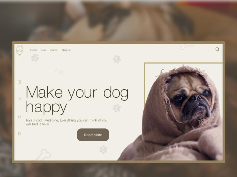 Happy Dog icon interface interaction clean ui uidesign typography branding vector logo landing page illustration clean ui design website adobe photoshop ui ux minimal design adobexd