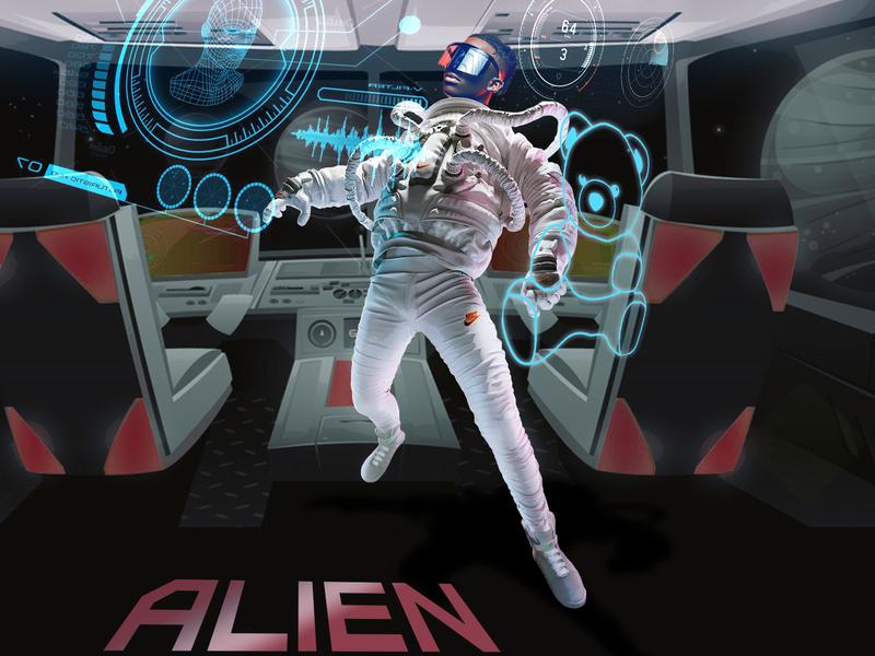 Rema Alien cartoon design illustration design cover art music