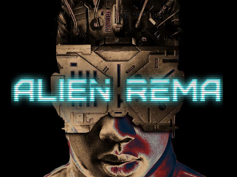 Rema Alien music artwork typography music cover art