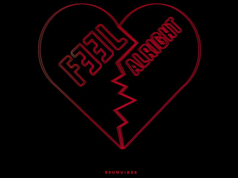 Feel Alright music artwork typography design cover art