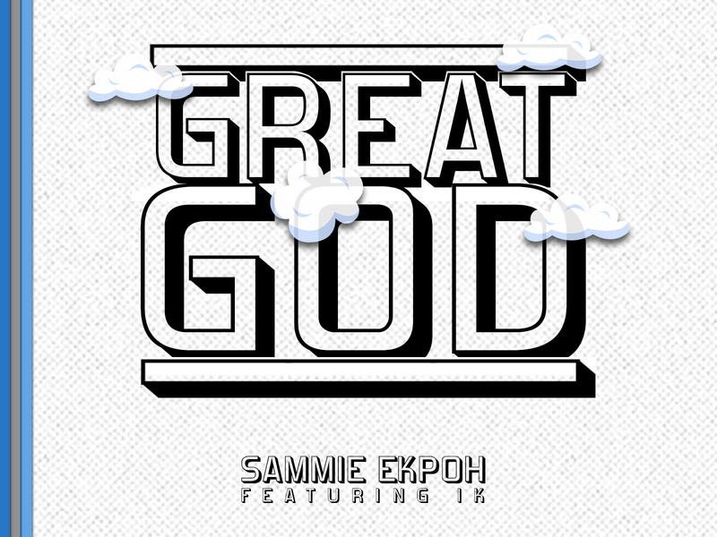 Great God typography music cover art