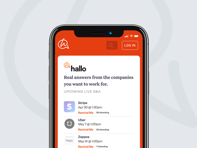 Hallo for Mobile Web ux ui mobile iphone