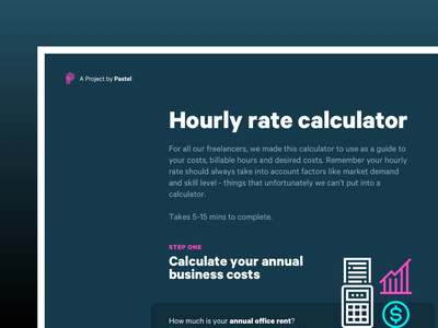 Hourly rate calculator animation illustration design ux ui