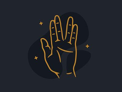Idle Hands - Part 1 thin line illustration hand star trek spock