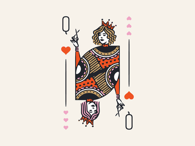 Killer Queens character illustration colorado springs colorado royalty women playing cards illustrations hair stylist queen of hearts queen