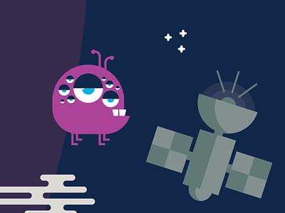 Sneak Peek #2 character monster illustration planets stars outer space satellite alien