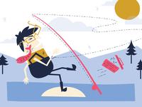 Fly Fishing Illustration for Springs Magazine