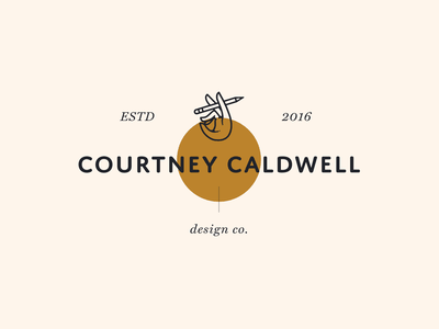 Courtney Caldwell Design Co typography icongraphy linedrawing branding hand illustration graphicdesign design