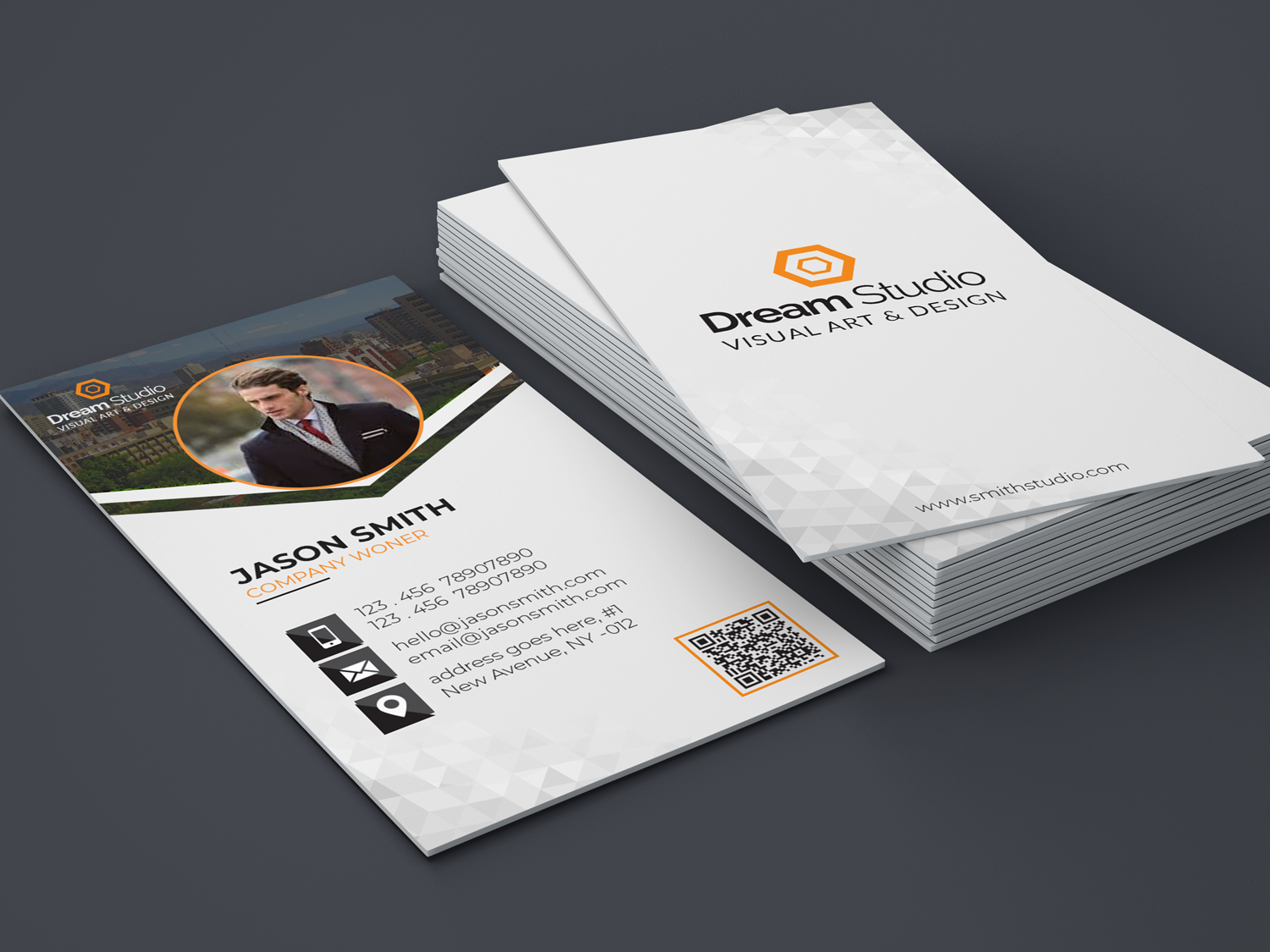 Business Card Design colorfull smart sale publish print template personal media magnetic elegan creative corporate colorful clear clean business card business bundle branding busines card adobe photoshop
