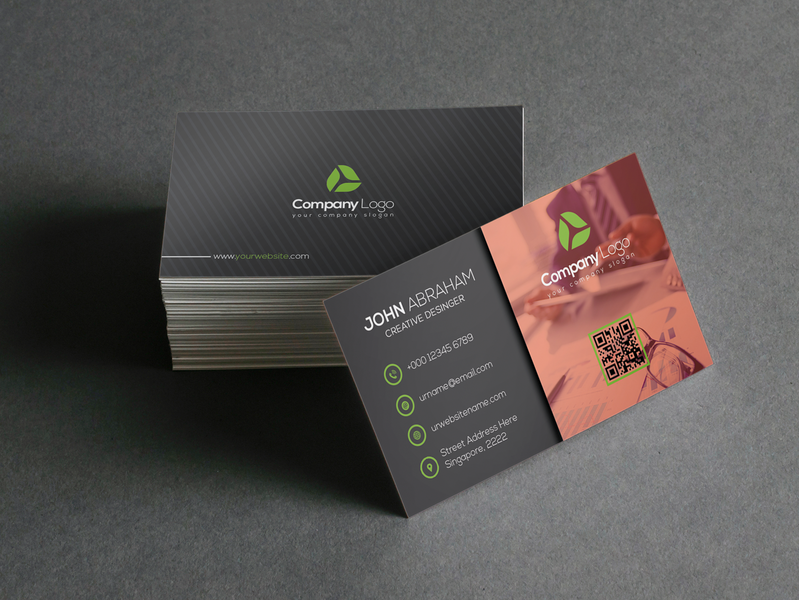 Business Card print postcard personal card personal office modern minimal horizontal gold elegant design creative corporate company clean ceyozer card business card business blue
