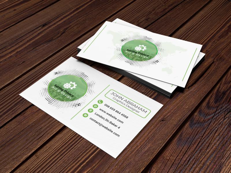 Business Card adobe photoshop template qr code psd professional personal orange name modern individual horizontal green design creative corporate clean card call business card business