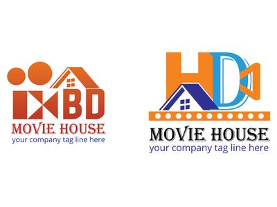 Movie House logo design
