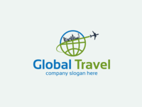 Global Travel Logo Design