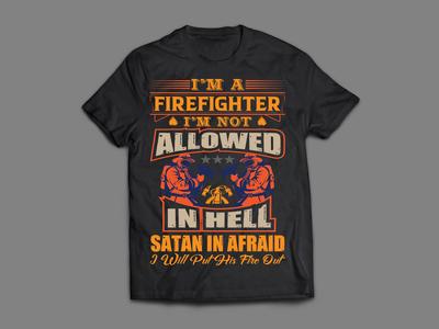 FireFight T-Shirt Design