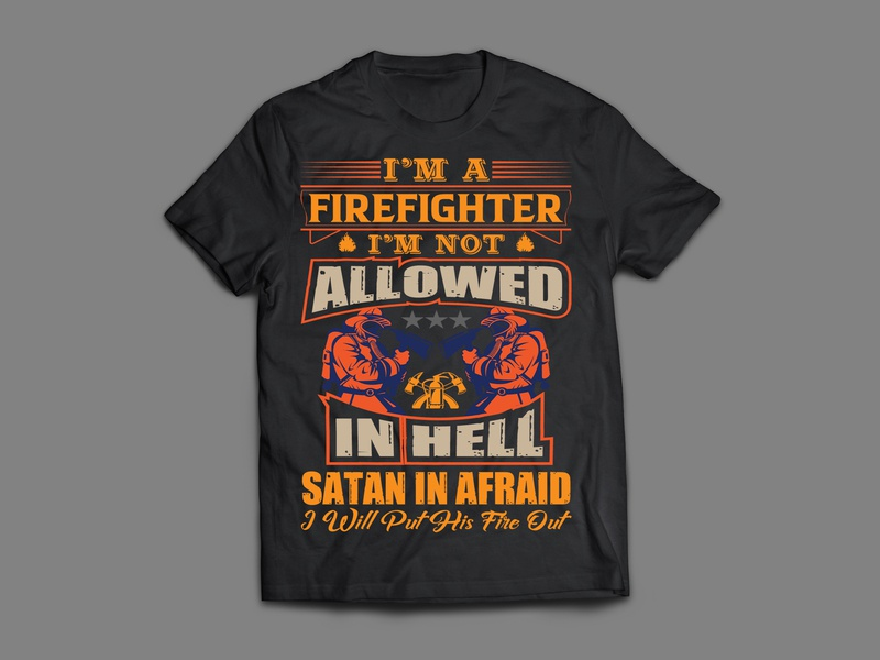 FireFight T-Shirt Design faysal7a t-shirt design professional print ready print modern heroes for sale flame firefighter event dark community clothing business branding brand badge artwork apparel