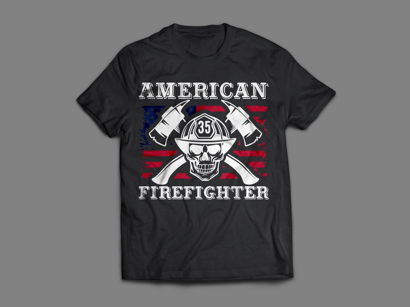 FireFight T-Shirt Design faysal7a symbol switch suit success strong quote post motivational life inspire hot helmet head firefighter face evil distressed design reative