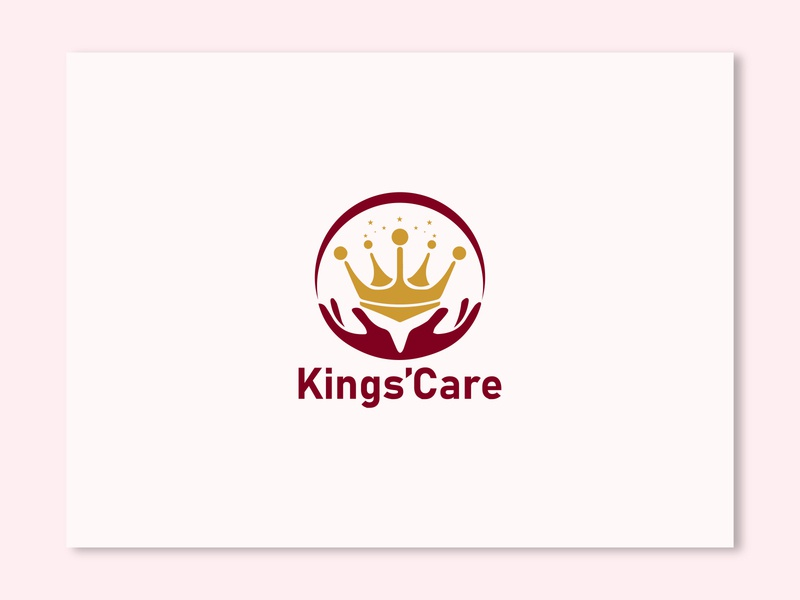 Kings Care Logo Design kingdom logodesign logotype branding design kings faysal7a abstract logo king busines card illustration modern brand clean creative business logo design branding abstract