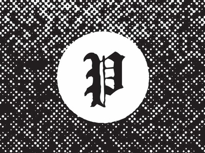 lil p halftone illustration typography austin preacher drop cap blackletter p