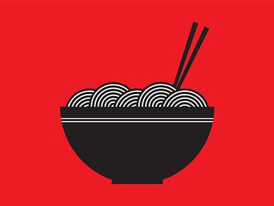 i'm hungry red hunger lines design noodles food illustration