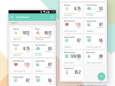 Healthkeeper dashboard concept 01