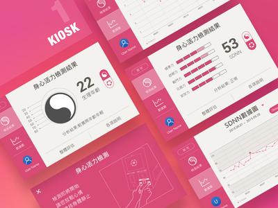 The UI concept of Kiosk 01