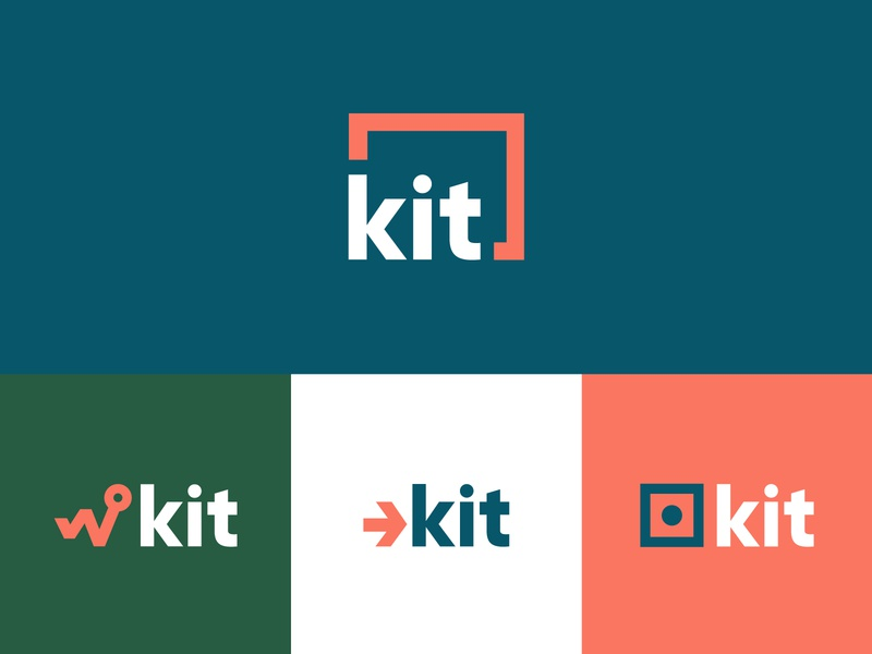Kit Logo Concepts healthcare health diagnostics home branding droplet concept kit logo