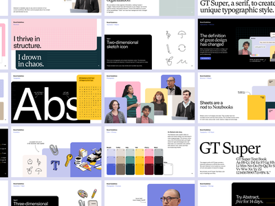 Abstract Brandbook 2021 brand identity book brand guide brand guideline color palette layout design typography brand guidelines manual