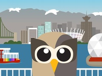Owly hangin' in his hometown