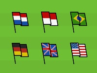 World cup dribbble flags