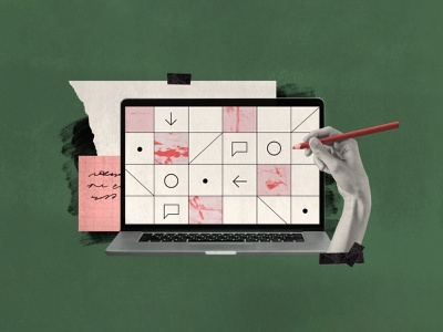 UX reviews: a template for success product design ux review blog illustration collage