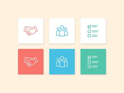 Persona Icons avatar partnership business manager task management organization marketing personas iconography icon