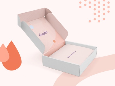 Droplet Shipping Box health period shipping blood test packaging branding droplet