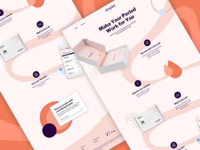 Droplet Homepage product minimal ux ui page. marketing landing page website web homepage