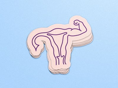 Droplet Stickers - Powerful Ladies female period sticker strong uterus