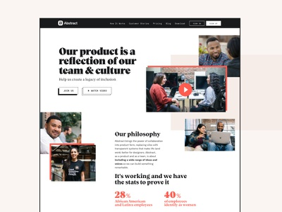Abstract Careers inclusion diversity web  design careers page jobs careers