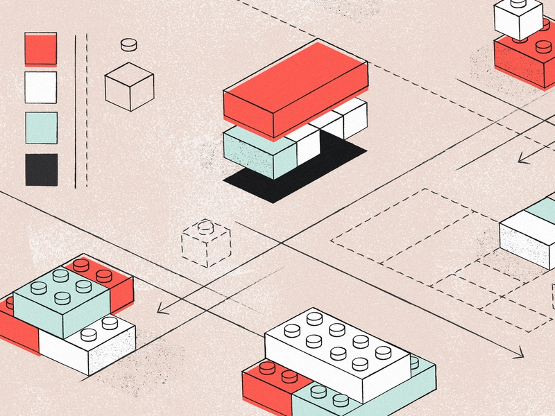 How to get buy-in for building a design system bricks lego planning illustration design system